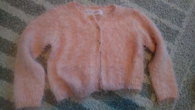 Sweterek różowy włochaty piękny rozmiar 86/92