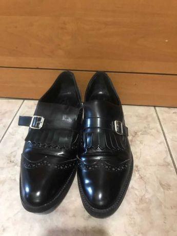 Лакированные туфли лоферы для девочки, цвет черный, р.36