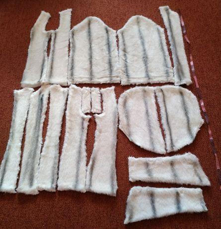Всё с фото Лоскуты меха искусственный мех обрезки меха кусок отрез