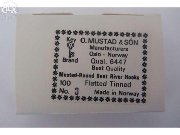 Caixa de anzóis Mustad n.º3 (100pcs)