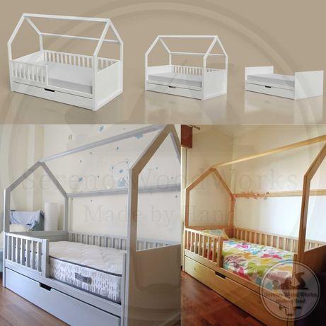 Cama criança casinha montessori, evolutiva, 90x190, NOVO!!!