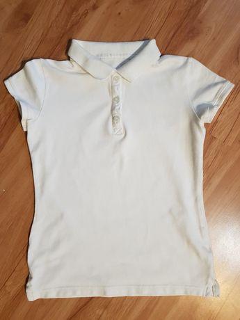 Koszulka polo biała r.140-146