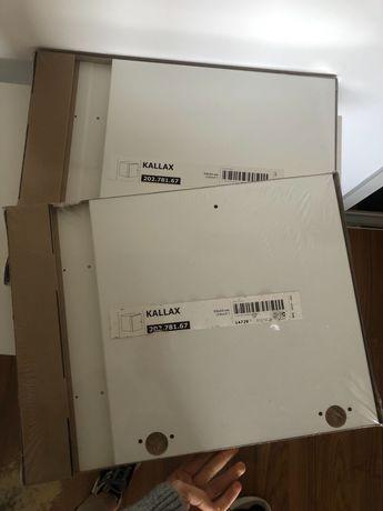 KALLAX biały wkład z drzwiami (ZESTAW)