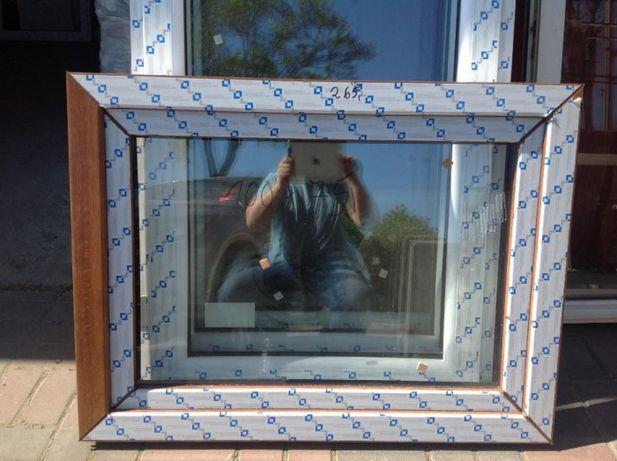 okno pcv 100x70 złoty dąb tanio nowe tania wysyłka
