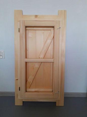 Okno drewniane skrzynkowe z okiennica domek altana 48x90cm