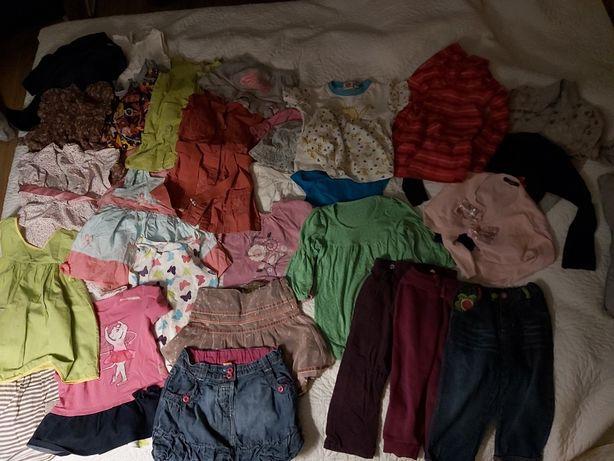 paka ubrań dla dziewczynki 86 92 98
