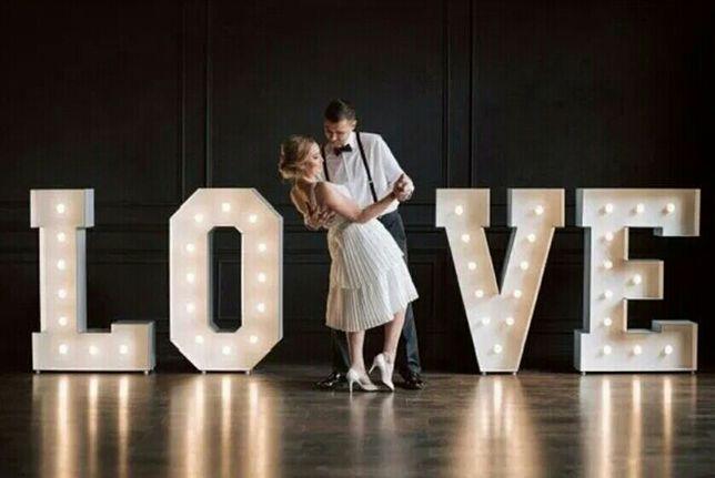 Napis LOVE ślub wesele sesja. Wolne terminy 2021!