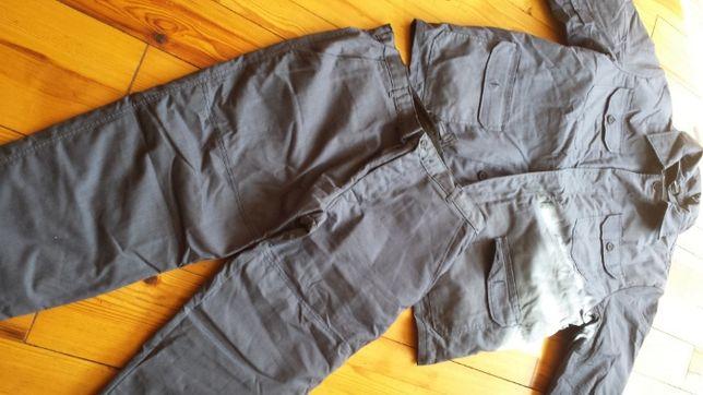 Wojskowe UBRANIE ROBOCZE bluza + spodnie + ocieplacze