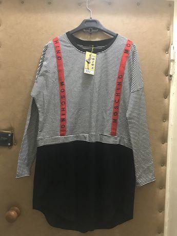 Туника оверсайз платье
