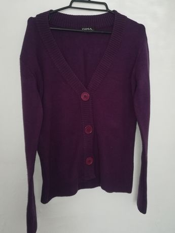 Fioletowy sweterek damski