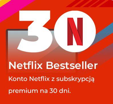 NETFLIX 30 DNI PREMIUM PL + gratis HBO GO / Wysyłka konta w minute!
