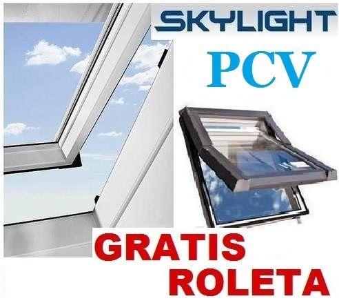 NOWE Okna dachowe PCV SkyFenster 55x78 66x118 78x118 78x140 + KOŁNIERZ