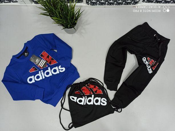 Dres Adidas bluza spodnie plus worek 98-122