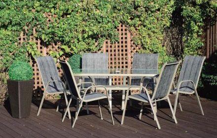 Zestaw mebli ogrodowych BERGAMO Stół + 6 krzeseł