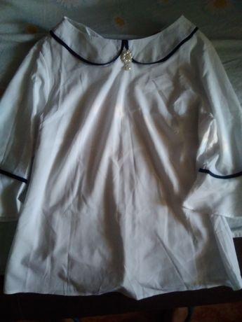 Блуза белая, женская