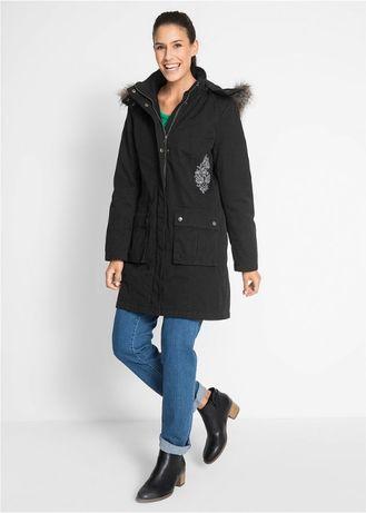 ociepłana płasz kurtka 38