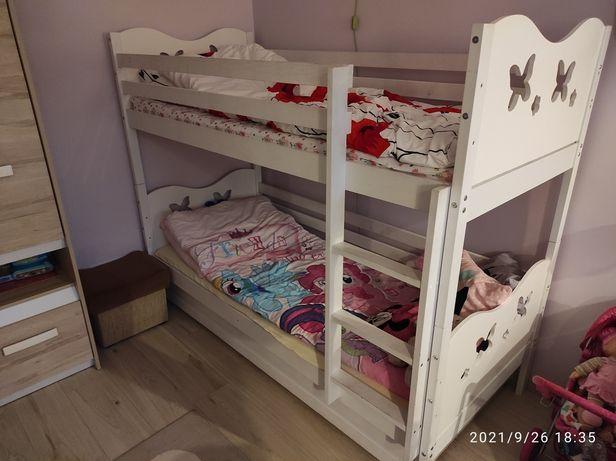 Łóżko piętrowe białe