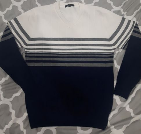 Męski Sweter W Paski - NOWY !!!