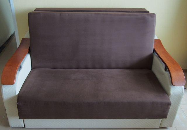Pilnie Rozkładana sofa kanapa, dwuosobowa, alcantara, bonell TRANSPORT