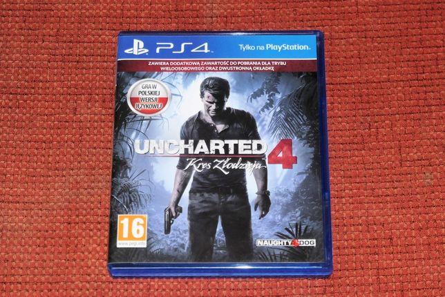 Uncharted 4 PL - PS4 polska wersja językowa