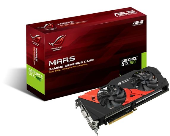 Asus ROG MARS760-4GD5 (SLI 2xGTX760) PCIe 3.0