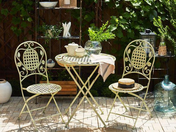 Conjunto de 2 cadeiras de jardim em metal verde claro BIVIO - Beliani
