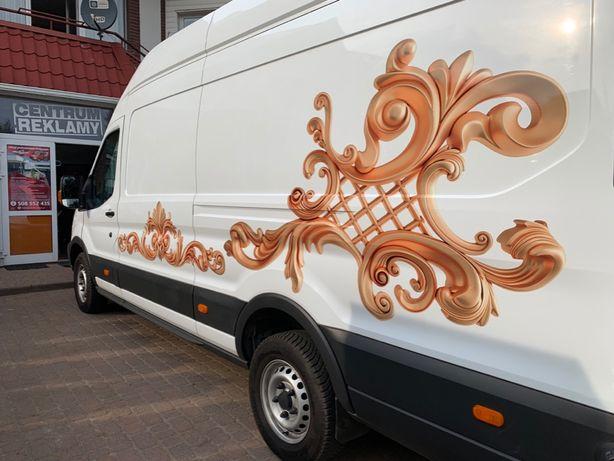 Oklejanie Samochodów Magesy grafika na autach reklama drukarnia
