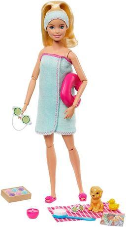 Кукла шарнирная Барби с собачкой Релакс СПА процедуры Barbie Spa
