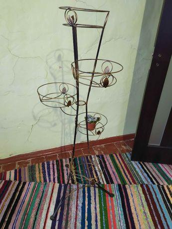 Подставка для цветов, подставка под цветы кованая