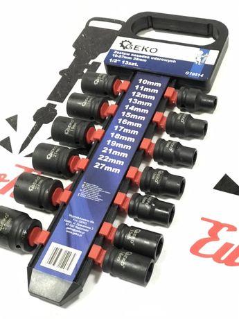 Ударные торцовые головки 1/2'' GEKO 10-27 мм. 13 шт.