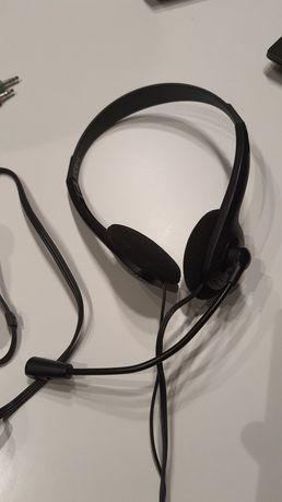 Słuchawki z mikrofonem HAMA używane zamiana