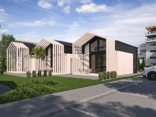 Dom na zgłoszenie letniskowy całoroczny 35m2 ROD model MTB ONE PLUS