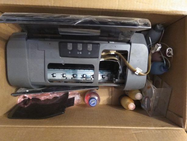 Принтер Epson Stylus C67 с СНПЧ, на запчасти