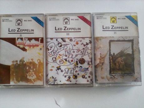 Led Zeppelin 2, 3, 4 Kasety audio 3 szt
