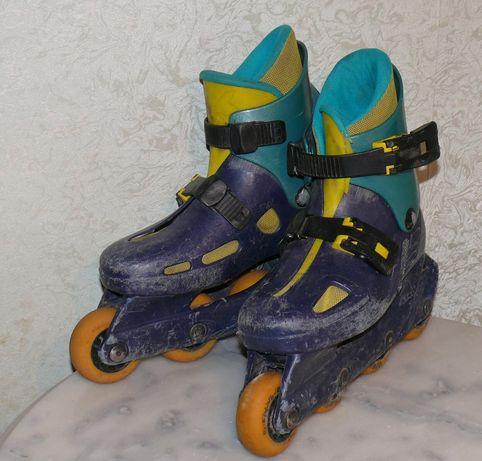 Ролики rollerblade, роликовые коньки стелька 17,8 см