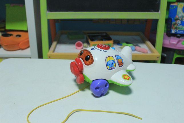 Vtech інтерактивний музичний літачок на шнурочку самолет игрушка