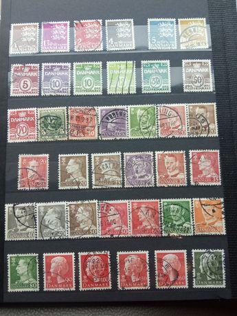 Znaczki pocztowe Dania, 38sztuk, Danmark