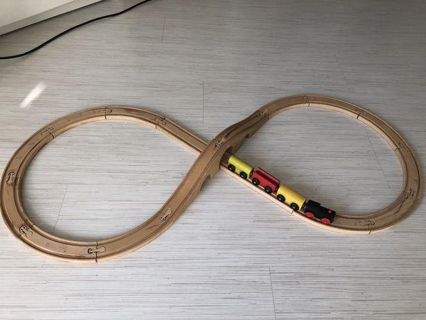 Іграшки, трек Ікеа, деревянная железная дорога, поезд