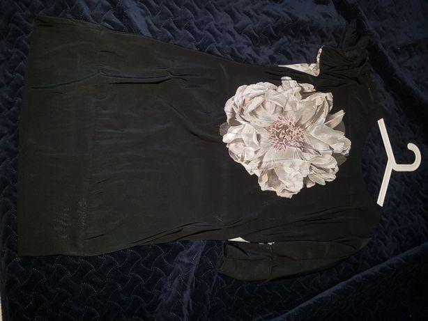 S sukienka czarna happy mum happymum tunika ciążowa ciazowa cienka