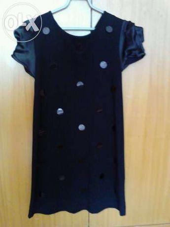 Vestido Zara, preto, 9/10 anos