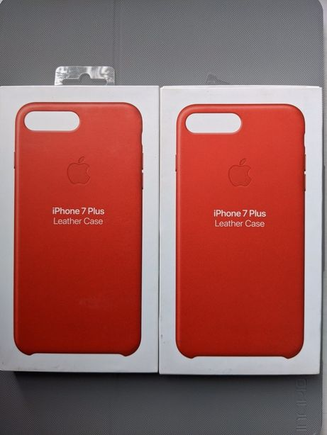 Iphone 7+ Leather Case  (PRODUCT RED] Оригінал