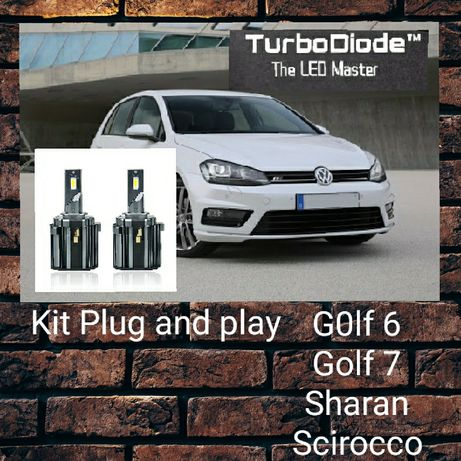 Led H7 especifico para Golf 6, Golf 7 Scirocco Touran Tiguan Sharan