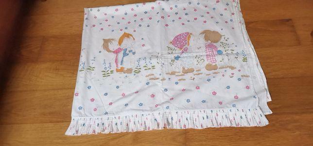 Lençol de cama de menina e Capas para almofadas decorativas novas