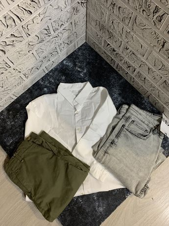 ОПТ Zara Брюки, рубашка, джинсы 3 шт.