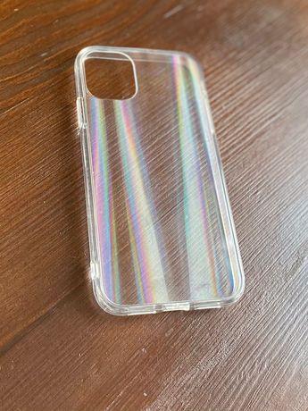 Прозрачный силиконовый чехол iphone 11