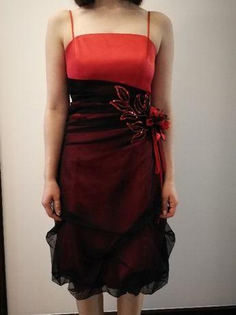 Sukienka balowa czerwona rozmiar m