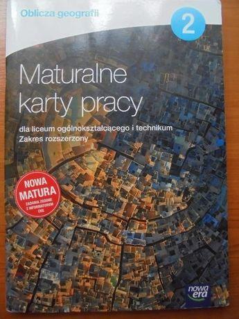 """Sprzedam """"Maturalne karty pracy"""" geo. kl.2"""