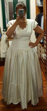 Vestido de noiva estilo princesa em seda selvagem
