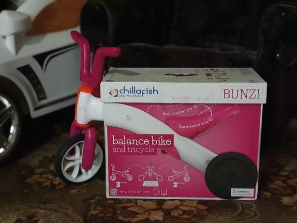 "Беговел-трансформер ""Bunzi"", бело-розовый - Chillafish"
