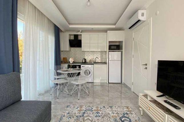 Двухкомнатная квартира с видом на море в Алании. Турция.